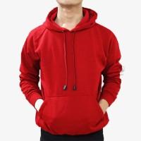 Jaket Sweater Polos Hoodie Jumper Merah