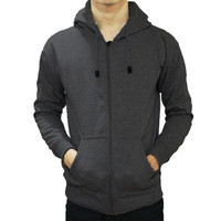 Jaket Sweater Polos Hoodie Zipper/Resleting - Abu Tua