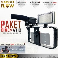 PAKET VLOG HP Smartphone Mic Takstar SGC-598 LED U Rig ULANZI PRO