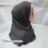 Hijab Pashmina Saudia Polos Jilbab Fashion Muslim Tokopelanginicer