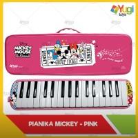 Alat musik Pianika tiup Disney koper hardcase Pink