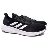 Sepatu Running Adidas Duramo 9 (Cblack/Ftwwht)
