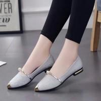 Sepatu wanita flatshoes gliter