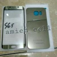 KACA LCD KACA DEPAN + BACKDOOR CASSING SAMSUNG S6 EDGE G925f