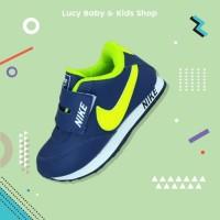 Sneakers Anak / Sepatu Olahraga Anak / Sepatu Nike Anak Navy Ijo