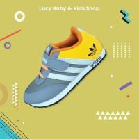 Sneakers Anak / Sepatu Olahraga Anak / Sepatu Anak Murah Orange Abu