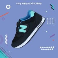 Sneakers Anak / Sepatu Olahraga Anak / Sepatu Anak Murah Hitam List