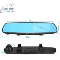 Car Camcorder Camera DVR / Mirror Front & Rear View ( dual Lens)