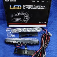 LED DRL DAY TIME RUNNING LIGHT GRILL MOBIL YARIS FORTUNER 6 TITIK
