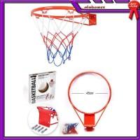 Set Ring Basket Besi Tempel Tembok Dinding Basketball 45Cm AL866 Alat
