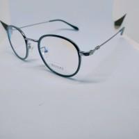 FRAME + LENSA ESSILOR kacamata bulat oval pria wanita
