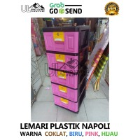 Lemari Plastik Napolly 5 Susun Termurah Gojek Grab Baru Pakaian STB500