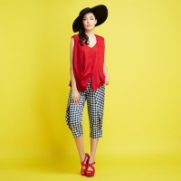 REE Vest Blouse - Red