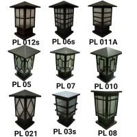 Lampu hias taman pagar pilar minimalis luar ruangan