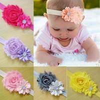 Baby Headband / Bando Bandana Bayi Anak Perempuan kombinasi 2 bunga