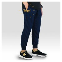 Celana Joger Pria Panjang Jogger Pants Training Running Gym Navy
