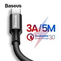 BASEUS Kabel Charger USB Tipe C 3A Bahan Nilon untuk Samsung Galaxy S8