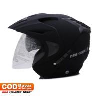 Baru Helm Dewasa WTO Helmet Pro-Sight - Double Visor - Hitam Doff