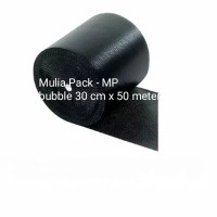 Bubble Wrap hitam dan bening / buble Wrap Mp ukuran 30 cm x 50 m