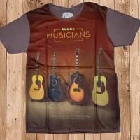 kaos baju tshirt musician musik gitar murah berkualitas nyaman sale