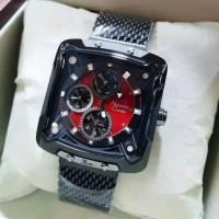 Jam Tangan Alexandre Christie Ac3030 Original Pria Black Red