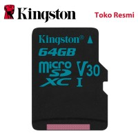 Kingston MicroSD Card Canvas Go! Class 10 MicroSDXC 64GB [FS]
