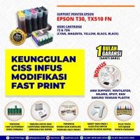 CISS Infus Modifikasi Plus Tinta Printer Epson T30 TX510 FN
