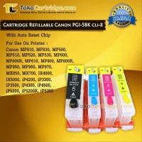 Cartridge Refillable Canon iP4200 iP4300 iP3300 iP4000 MP500, PGI-5BK