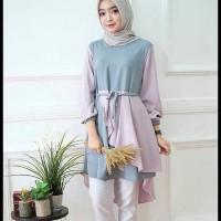 Produk Berkualitas Inaka Long Tunik Baju Atasan Muslimah Tunik Wanita