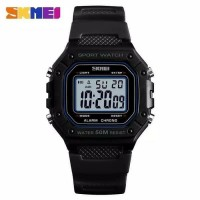 Jam tangan digital outdoor skmei 1496 black original like gshock eiger