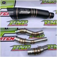 Knalpot R9 H2 Black CBR150R All New CB 150R CBR 150 Facelift - SLIP ON