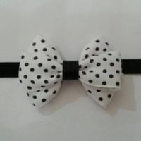 Bandana bayi/Baby headband-Polka triple bow