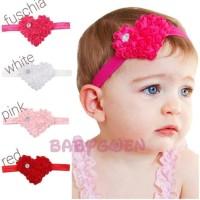 bando hati untuk bayi dan anak headband/bandana