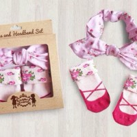 Petite Mimi Sock & Headband Set   Set Kaos Kaki Bandana Bayi