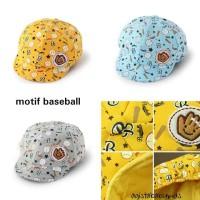 Topi bayi baseball /topi pet bayi /topi anak /baby hat - Traffic-Biru