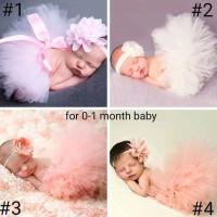kostum tutu bayi set dengan headband bando