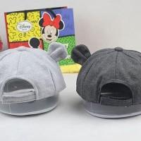 Topi Bayi Anak Laki Perempuan Trendi Lucu Korea Cute Mouse Hat - Abu-