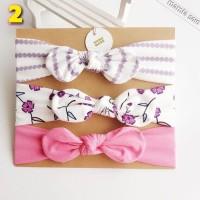 Set 3 in 1 bando bandana headband pita bayi korea anak handmade cantik