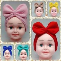 Turban Bayi Pita Polos Anak hijab kerudung aksesories headband - Hitam