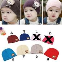 Topi Kupluk Anak Bayi laki-laki dan perempuan polka bear /Topi Anak -