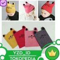 Topi Kupluk Rajut Bayi anak laki laki perempuan Motif Kucing kelinci