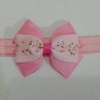 Bandana Bayi / Baby headband - Triple Bow Flowers Premium