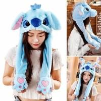 topi kupluk unicorn stitch dancing / topi kupluk telinga bisa gerak -