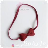 bandana bayi / Baby headband Gracie bow (32warna)