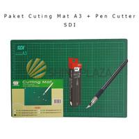 Paket Cutting Mat A3 - Pen Cutter SDI