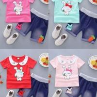 Setelan Kaos Anak Perempuan Import 1-4 th