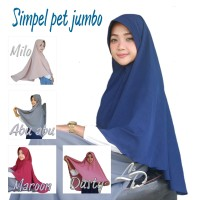 Jilbab khimar Instan Simple Pet Super Jumbo