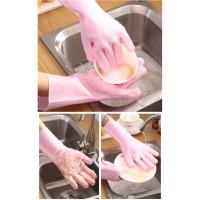 Sarung tangan ( SEPASANG ) cuci piring Silicone silikon