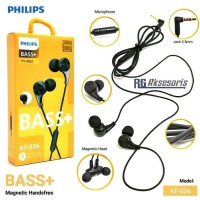 Headset PHILIPS MAGNETIC AT-036 /AT036 Mic Hybrid Bass