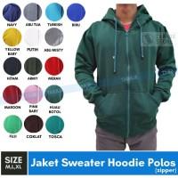 Jaket Sweater Polos Hoodie Zipper/Resleting